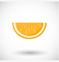 orange segment flat icon vector image