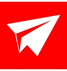 Paper airplane sign vector image