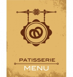 pastry menu vector image