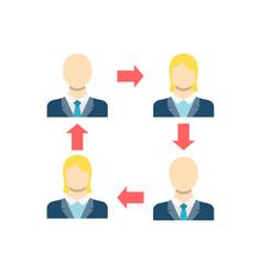 Peer to peer icon vector