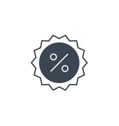 percent badge related glyph icon vector image