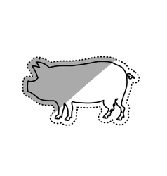 Pork silhouette meal vector