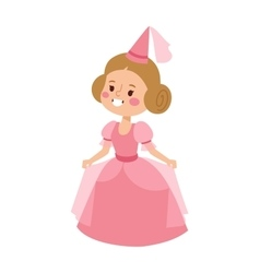 Princess character isolated vector