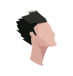 profile head guy young character vector image