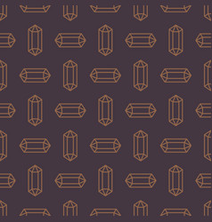 seamless pattern with crystal symbol vector image