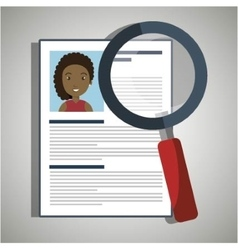 Search curriculum cv woman vector