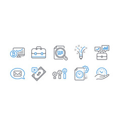 Set education icons such as portfolio project vector