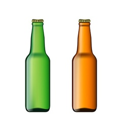 Set of bottles of beer vector image