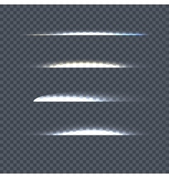 Set of Light Line on Transparent Background vector