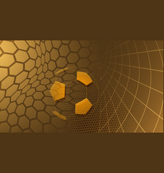 soccer background in brown colors vector image