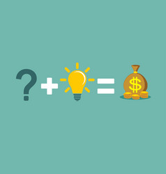 solving a problem and make money vector image