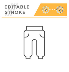 sport trousers editable stroke line icon vector image