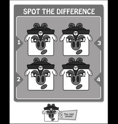 spot the difference black warrior vector image