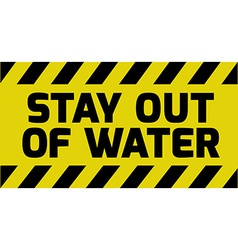 Stay out of water sign vector