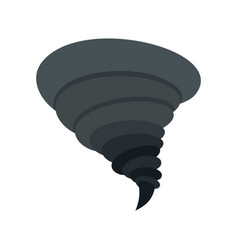 storm tornado icon flat style vector image