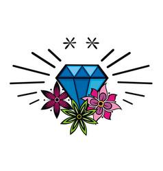 tattoo diamond vector image