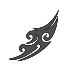 Tattoo image color icon vector
