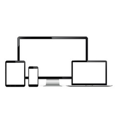 Technology devices - computer monitor laptop vector