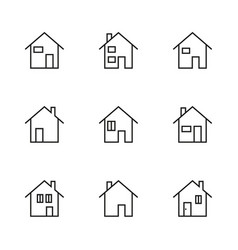 thin line modern house icon vector image