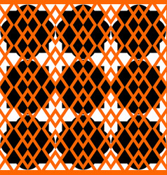tile pattern with orange black and white vector image