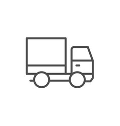 truck line icon and delivery concept vector image