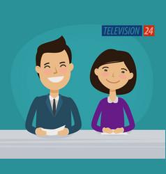 Tv television concept news announcer vector