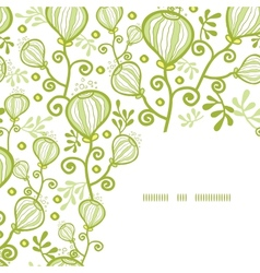 Underwater abstract plants corner frame pattern vector image