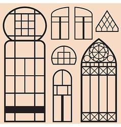vintage city set vector image