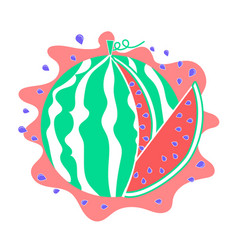 watermelon icon piece vector image