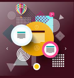 web graphic flat design background modern vector image