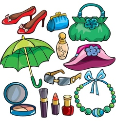 Women Accessories icon set vector