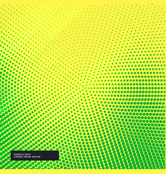 Yellow background with green halftone effect vector