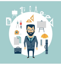 architect of working tools vector image vector image