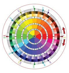 Complementary color wheel for artists vector image vector image