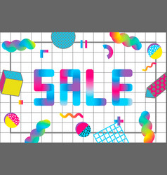 memphis sale banner vector image vector image