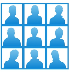Silhouettes avatar vector image vector image