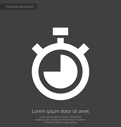 timer premium icon white on dark background vector image