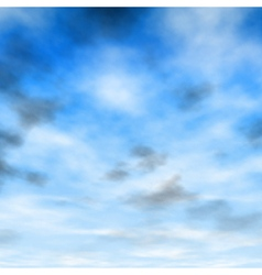 White and gray clouds vector image vector image
