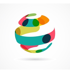 Abstract colorful globe business icon vector image vector image
