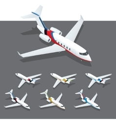 Isometric private jet vector image