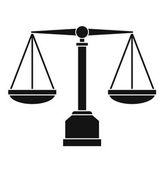 justice scale icon simple style vector image vector image