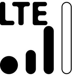 Mobile smart phone lte network icon vector