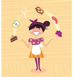 mother kitchen super hero vector image vector image