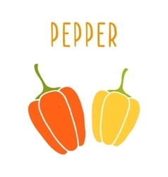 Peppers isolated on white vector image vector image