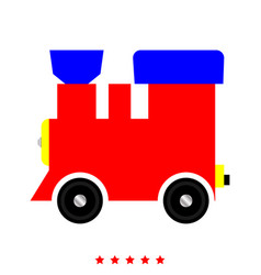 steam locomotive - train icon flat style vector image