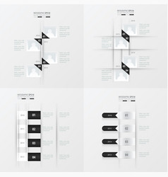 timeline 4 item black and white color vector image vector image