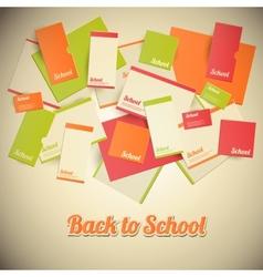 Vintage Back to School Design vector image