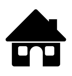 black silhouette of house with two windows in vector image vector image