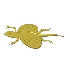 Flying dragon lizard icon cartoon style vector image