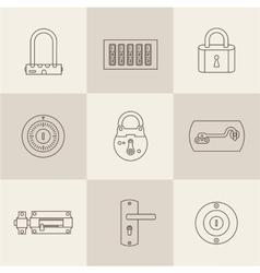 Locks icons vector image vector image